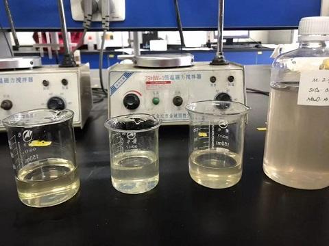 四川硅酸钠实验室一角