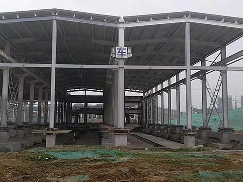 中铁三局行车轨道安装施工