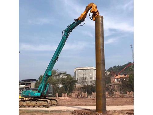 泸州碧桂园房建基础桩钢护筒打拔施工