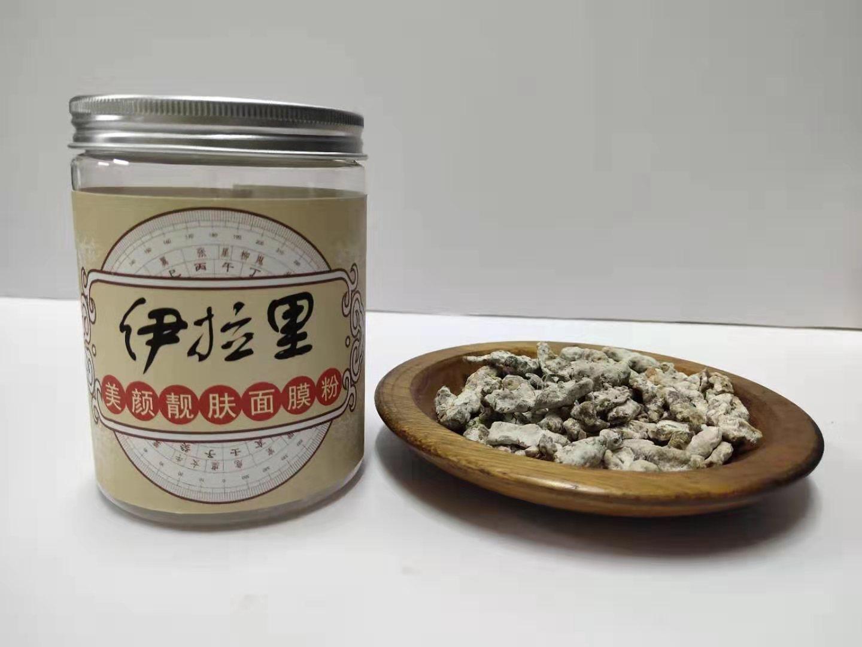 伊拉里祛痘面膜粉中的鹿茸材料展示