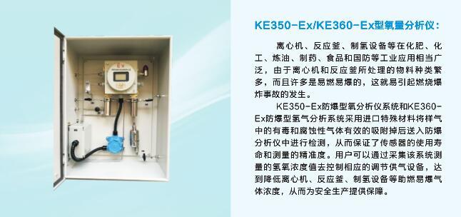 KE350-Ex/KE360-Ex 防爆型氧氣/氫氣分析系統