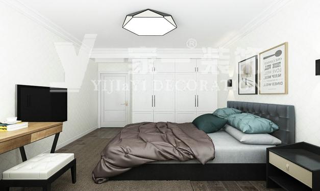 太原装修公司_82平米二居室现代简约风格-三千渡