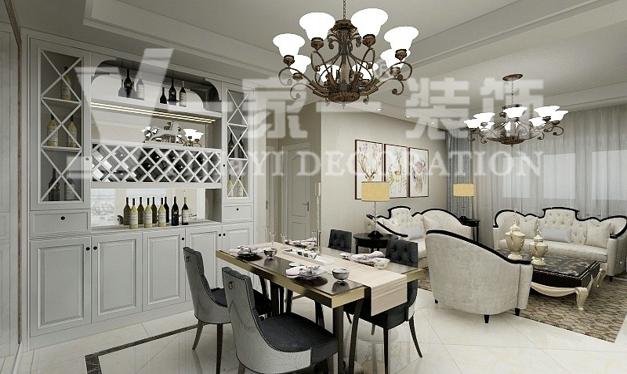 欧式风格_三居室装修设计效果图