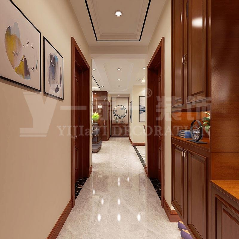 新中式风格装修设计-三居室-中车国际