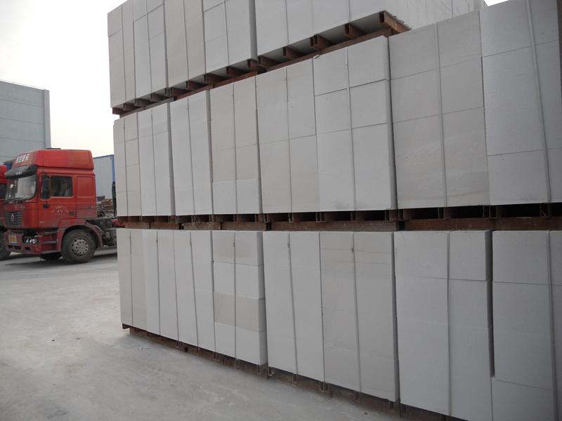 白银加气砌块施工
