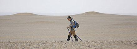 沙坡头徒步露营之—徒步者膝盖痛的原因及对策