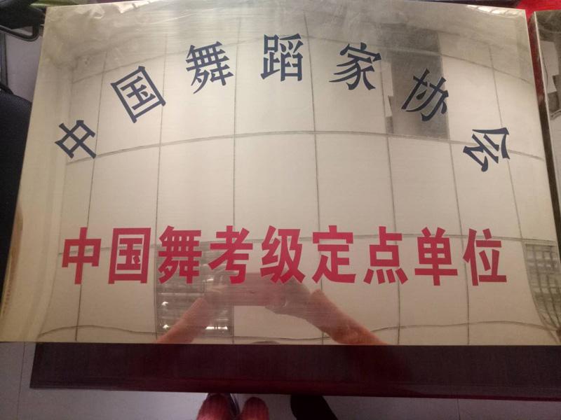中国舞蹈家协会授予我校中国舞考级定点单位