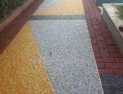 温江花园彩色透水地坪案例