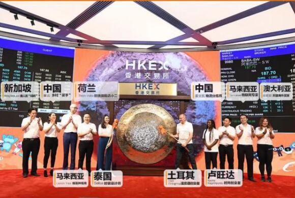 在香港上市首日,阿里总市值4万亿!成为港股市值之王