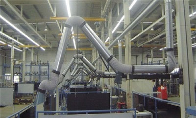 焊烟除尘设备多工位集中烟尘处理