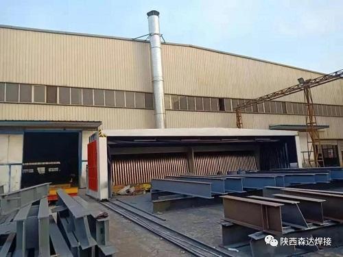 西安伸缩式喷漆房的主要适用行业 鑫吉天环保