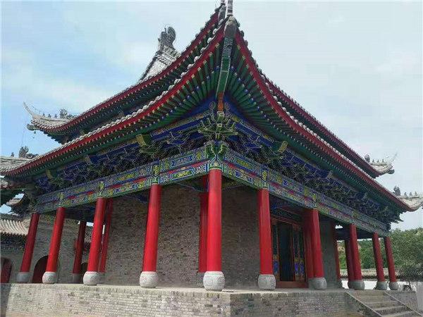 西安彩绘建筑