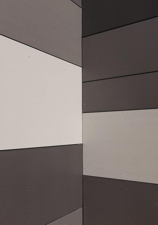 彩色的清水混凝土挂板搭配使用效果