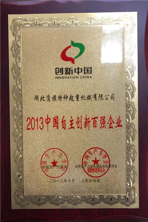 2013中国自主创新百强企业