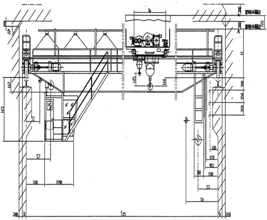 QD型75/20~100/20噸吊鉤橋式