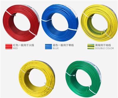 低烟无卤耐火阻燃电线单芯单股硬线