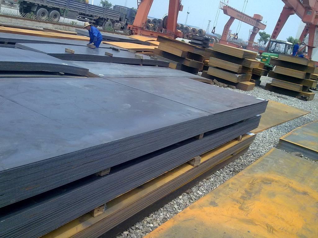 成都耐磨钢板材料堆场