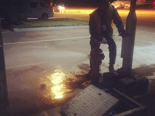 四川管道漏水检测施工现场