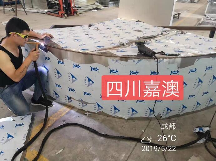 四川消防排烟管厂区展示