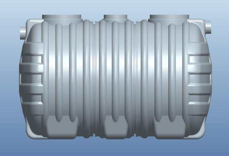 1.5立方PE一体化三格环保化粪池