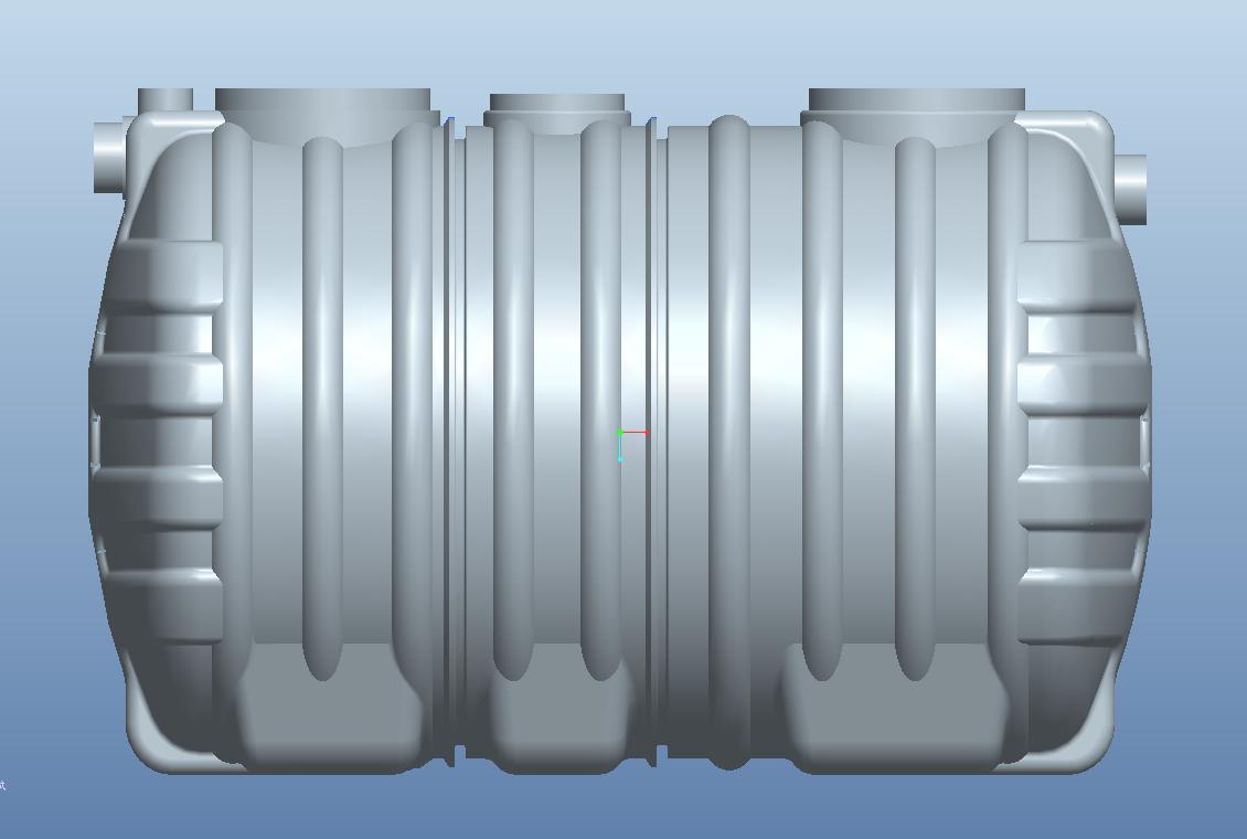 2.0立方PE一体化三格环保化粪池
