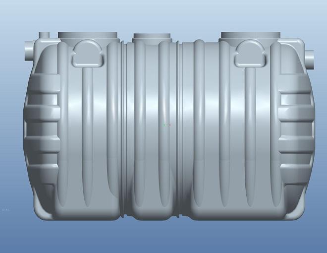 2.0立方PE整體式三格環保化糞池