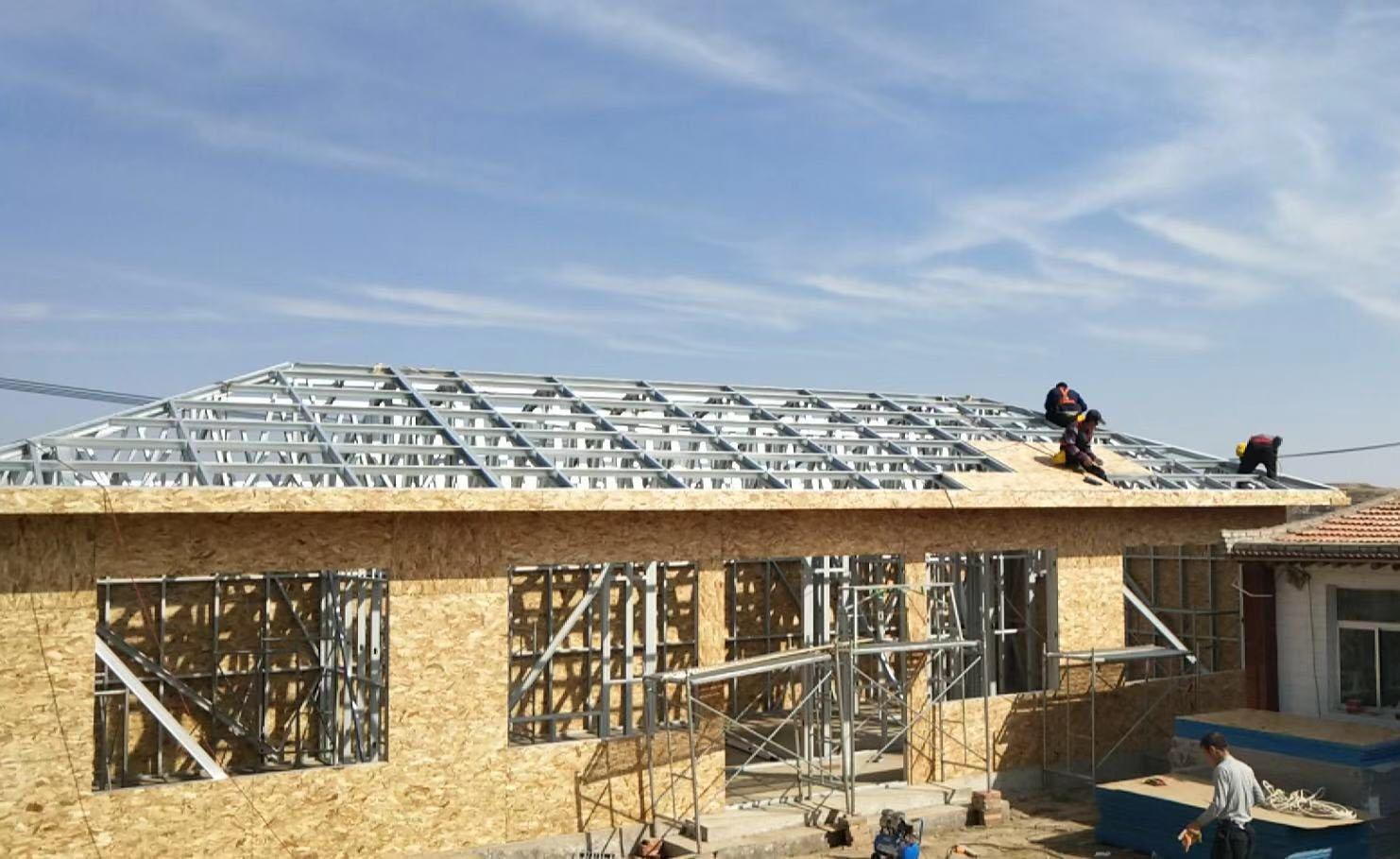 轻钢别墅建造安装案例