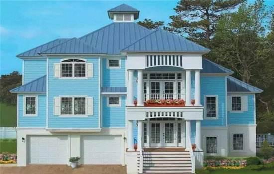 轻钢别墅为何能新农村建设标准建房模板?