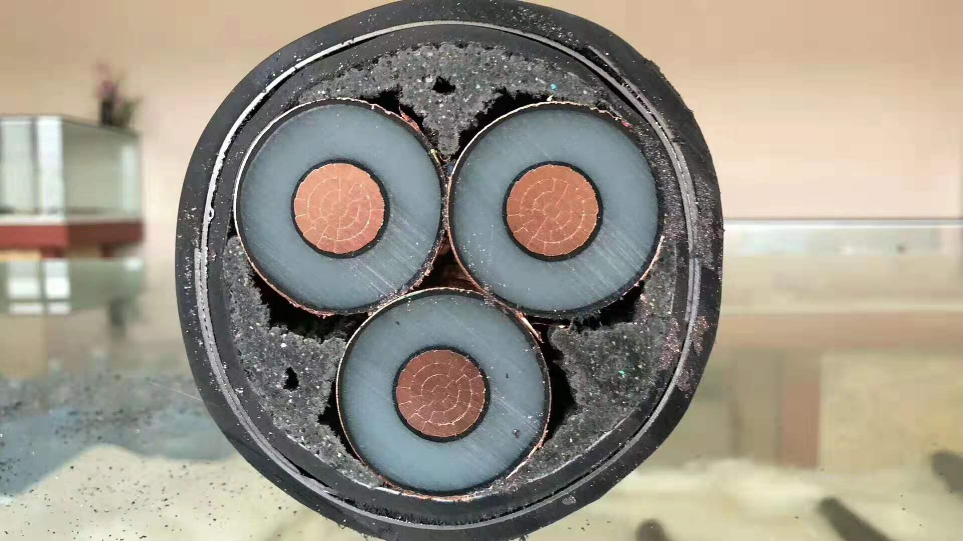 铜芯电缆YJV22 3*185平方高压电缆8.7/15KV