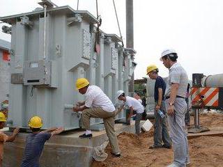成都发电机安装现场