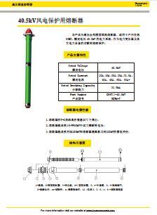 40.5kV风电保护用熔断器