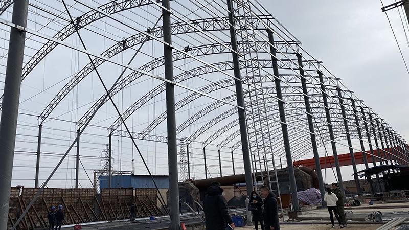 皋兰碳化硅厂管桁架厂房建设项目