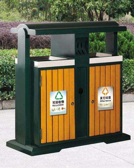 河南钢木垃圾桶安装
