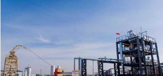 煤炭地下气化技术项目一角。(新华网 发)