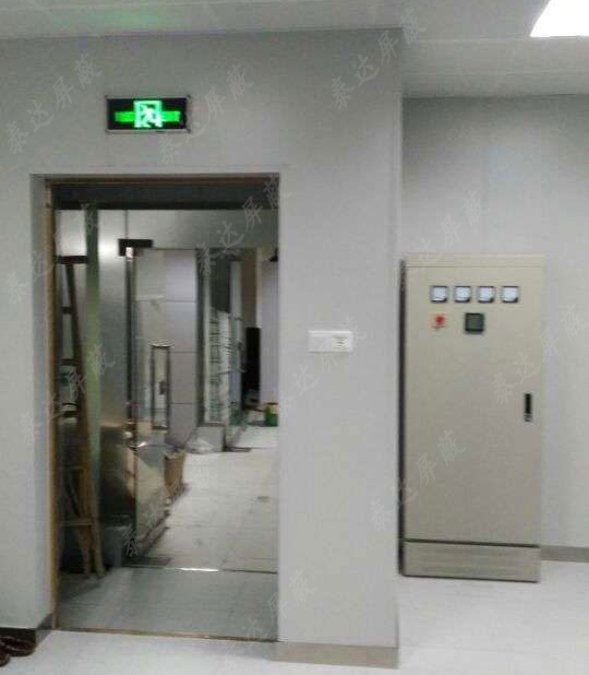 甘肅省金昌市政府機要處使用屏蔽門工程案例展示
