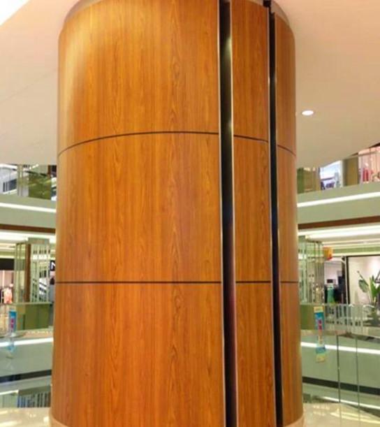 仿木纹包柱铝单板