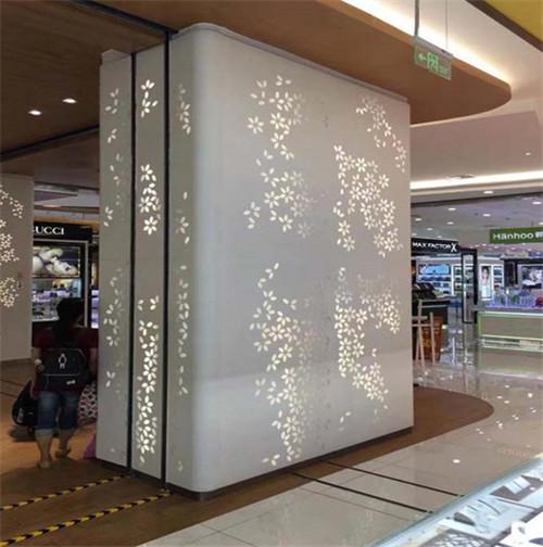 镂空雕花包柱铝单板