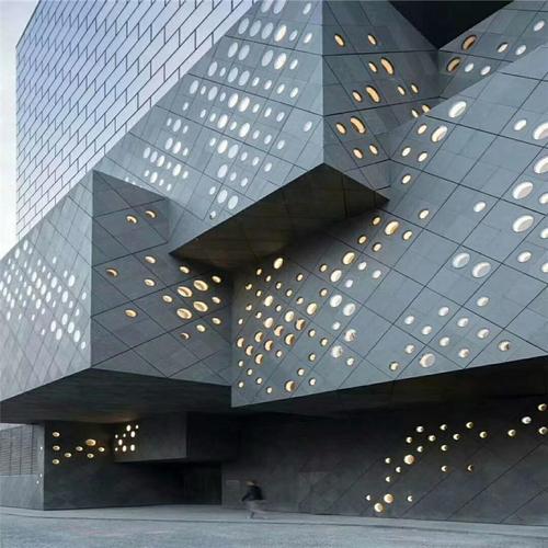 冲孔铝单板幕墙的表面处理冲孔铝单板幕墙表面一般经过铬化等前处理后