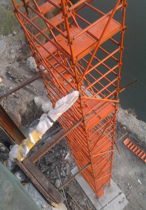 河南立井安全爬梯安装
