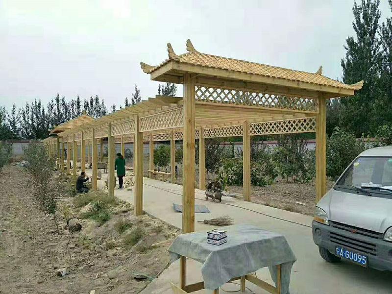 防腐木廊架设计