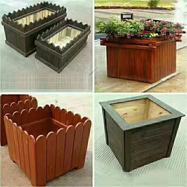 陕西防腐木花箱