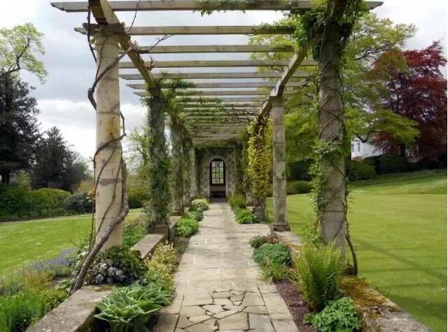 在园林景观中,廊架设计是不可或缺的存在