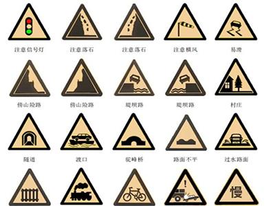 道路交通标牌展示图
