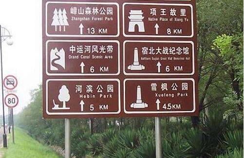 旅游交通标志牌