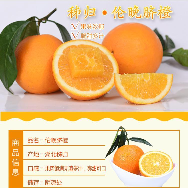新鲜水果湖北秭归应季新鲜橙子夏橙