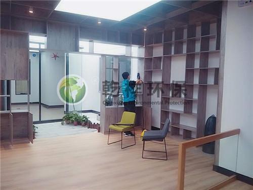 新乡市三人行书法教育一千多平米室内装修污染治理