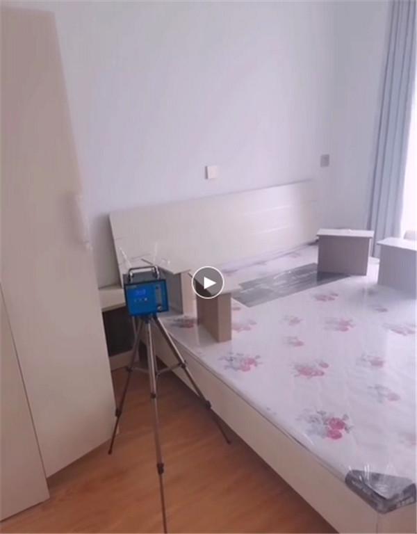 尚都国际室内装修污染检测中(视频)