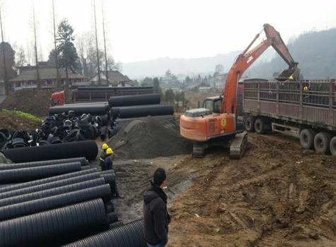 HDPE塑钢缠绕管案例
