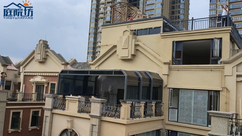 成都阳光房阳台移动房案例-成都旭和蓝楹花园
