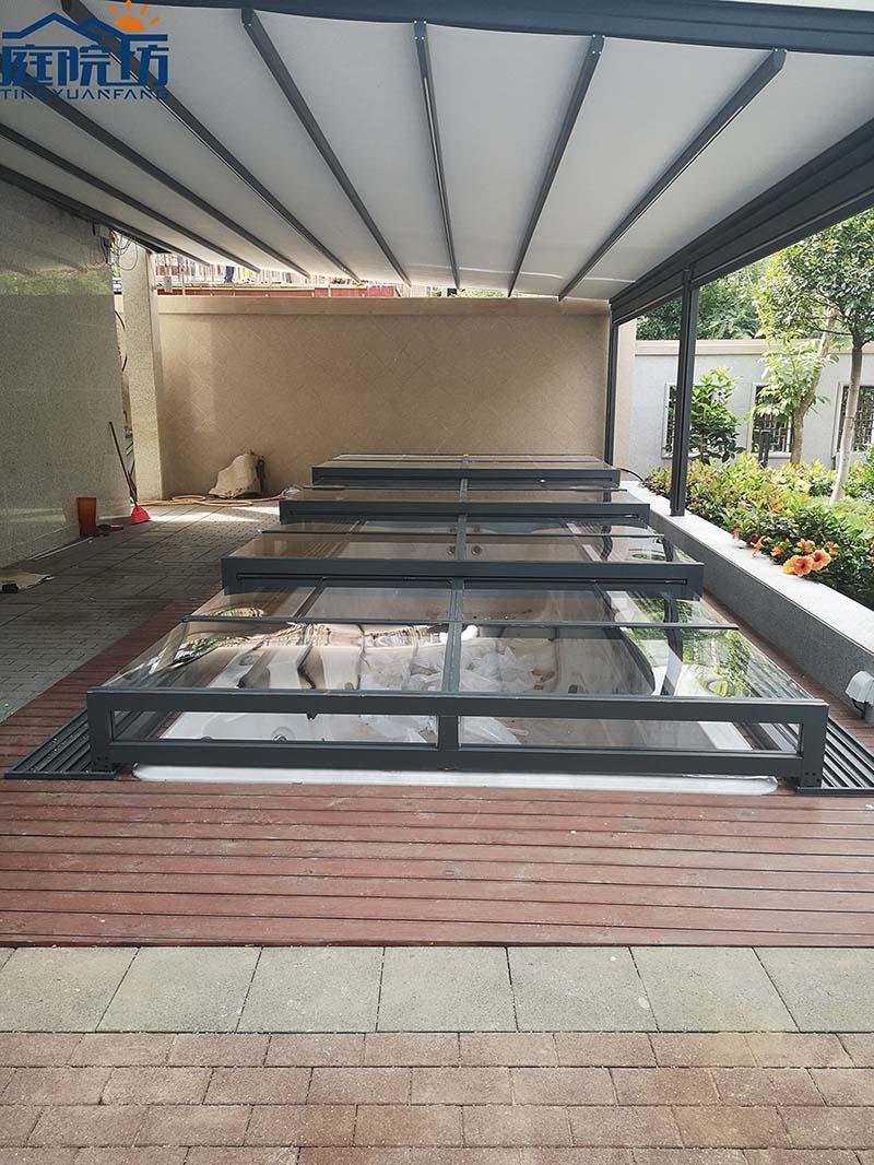 成都伸缩式泳池盖
